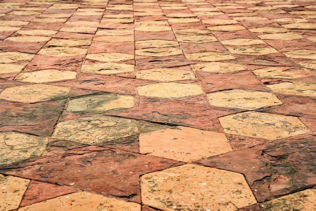 Floor tile pattern at Taj Mahal in Agra, India