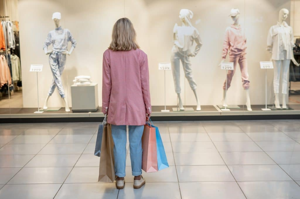 Shopper in the shopping mall